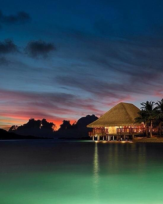 After the sunset ~ Bora Bora
