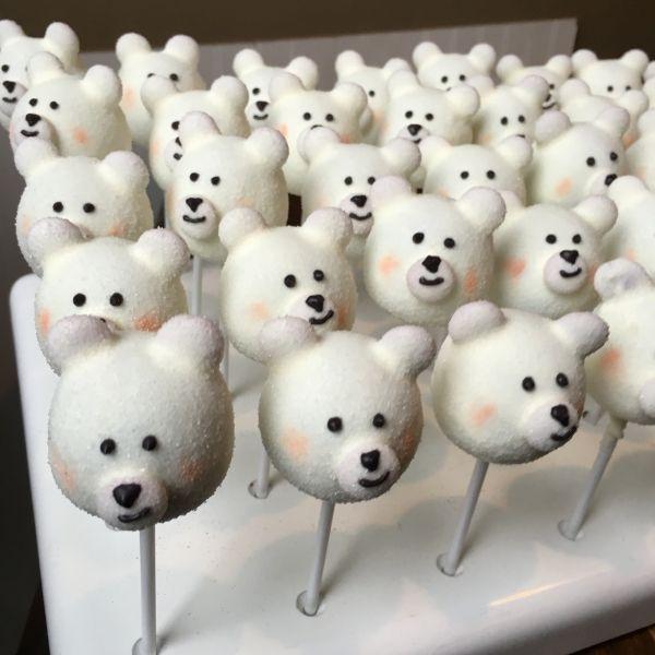 Image result for blue teddy bear cake pops
