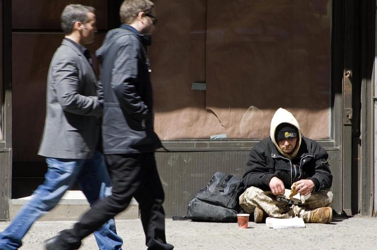 Homeless in Manhatten
