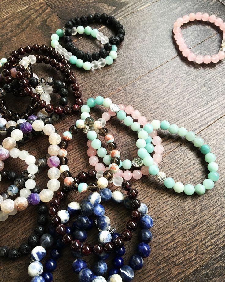 Gemstone Bracelets www.etsy.com/shop/ukulifebeads