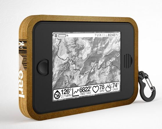 """""""Earl,"""" a smart, solar-powered GPS that gives you real-time map data, weather, and an emergency radio."""