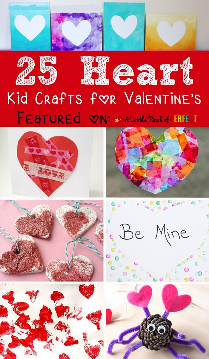 25 Adorable Valentine S Day Heart Crafts For Kids Preschool