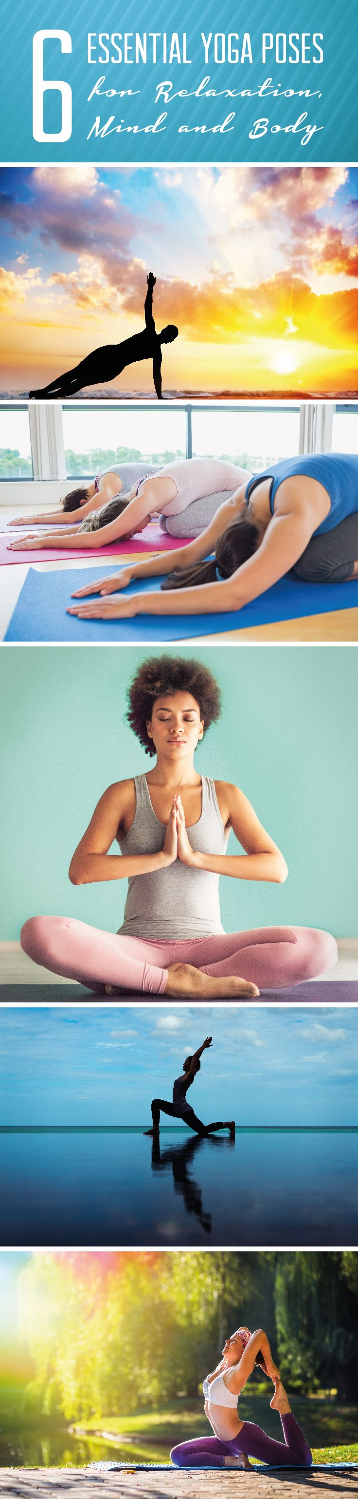 Yoga is one of the best ways to relieve stress of both the body and mind, increasing energy, focus, and overall happiness. Check out these six poses to keep you feeling namastexcellent even on your most hectic days! #yoga #weightloss