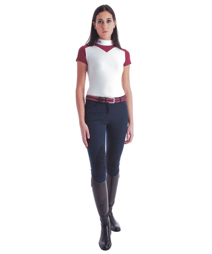 Ladies polo shirt mod. JANE. Made of cotton and technical materials to ensure the comfort of the movements with a touch of elegance. Made in Italy.
