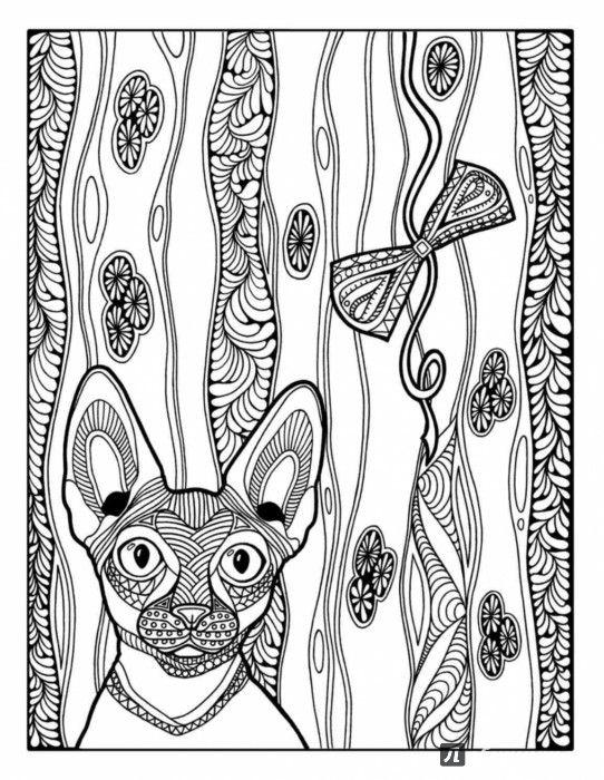Иллюстрация 1 из 39 для Раскраска-зендудл. Кототерапия ...