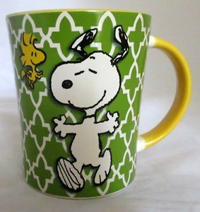 Officially licensed Peanuts Funky Dancing Snoopy & Woodstock Ceramic Coffee Stoneware Mug @ niftywarehouse.com #NiftyWarehouse #Peanuts #CharlieBrown #Comics #Gifts #Products