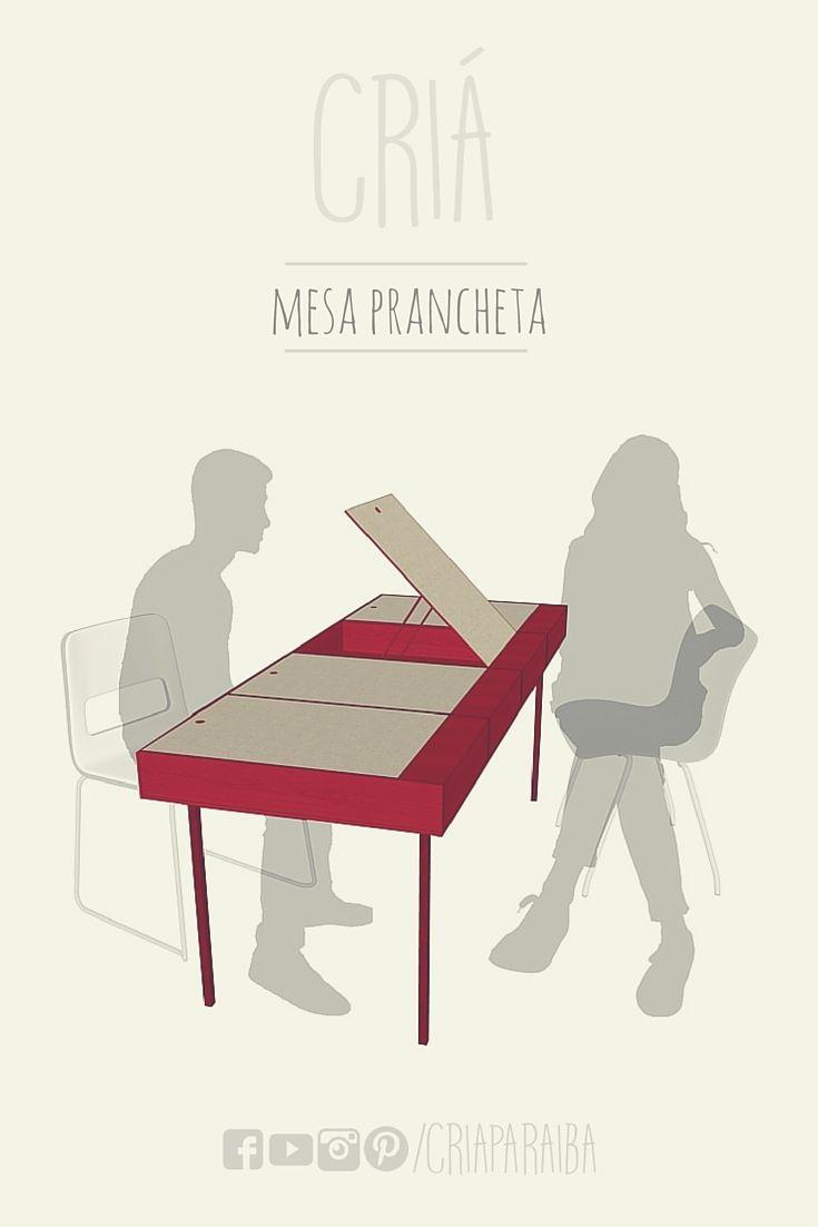 Mesa Prancheta  #interiordesign #table #graphics #presentation #illustration