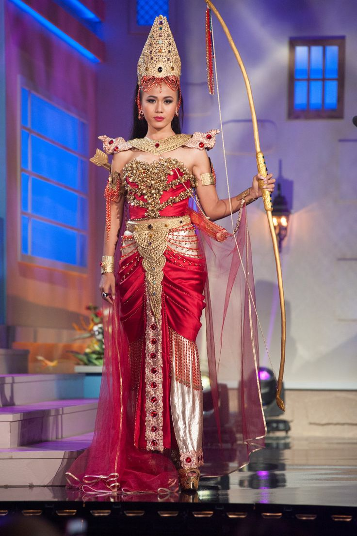 Burma National Costume Inspired By The Miss Universe