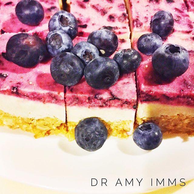 "Day 15 - dessert - raw blueberry ""cheesecake"" #30dayfoodchallenge #wholefoods #vegan #vegandesserts #blueberrycheesecake"