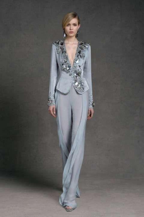 tailleur pantaloni eleganti da cerimonia