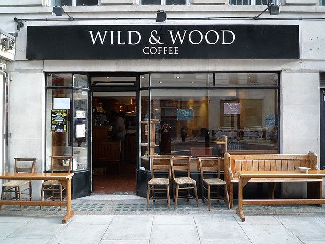Wild & Wood Coffee, London. One of my favorite coffee shops. Neat wooden tables and perfect for people watching.