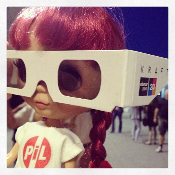 Goo Blythe is attending Kraftwerk 3D show at SonarbyNight 2013! Amazing Live Show! Photo by pil_associati