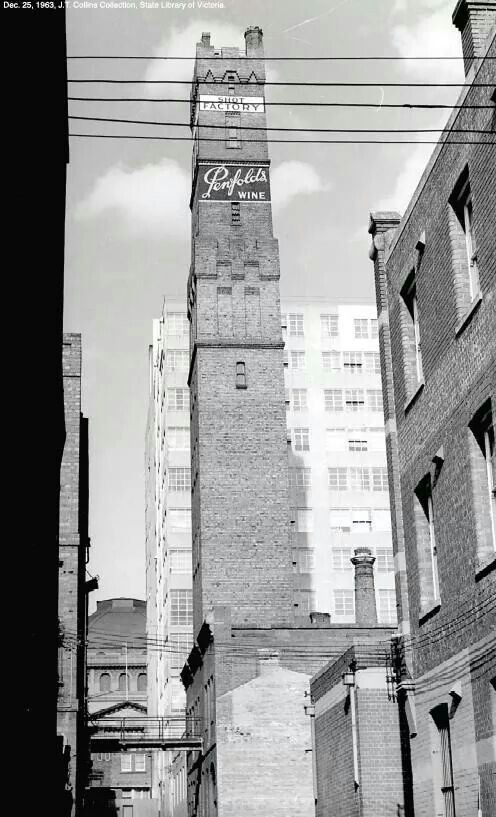 The shot tower Melbourne now enclosed by Melbourne Central.
