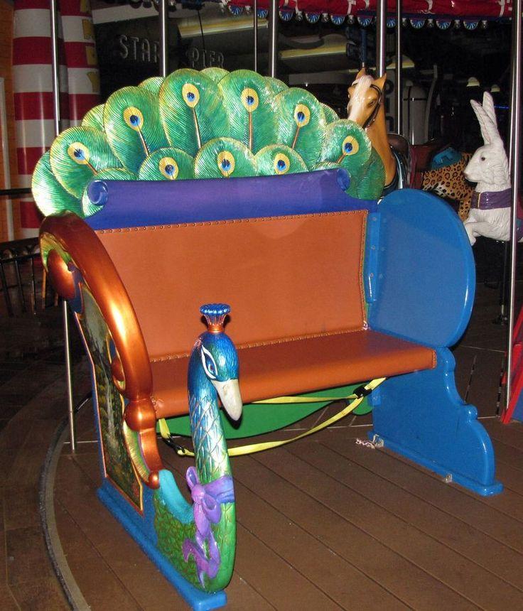 Carousel bench aboard cruise ship Oasis of the Seas (Royal Carribean)
