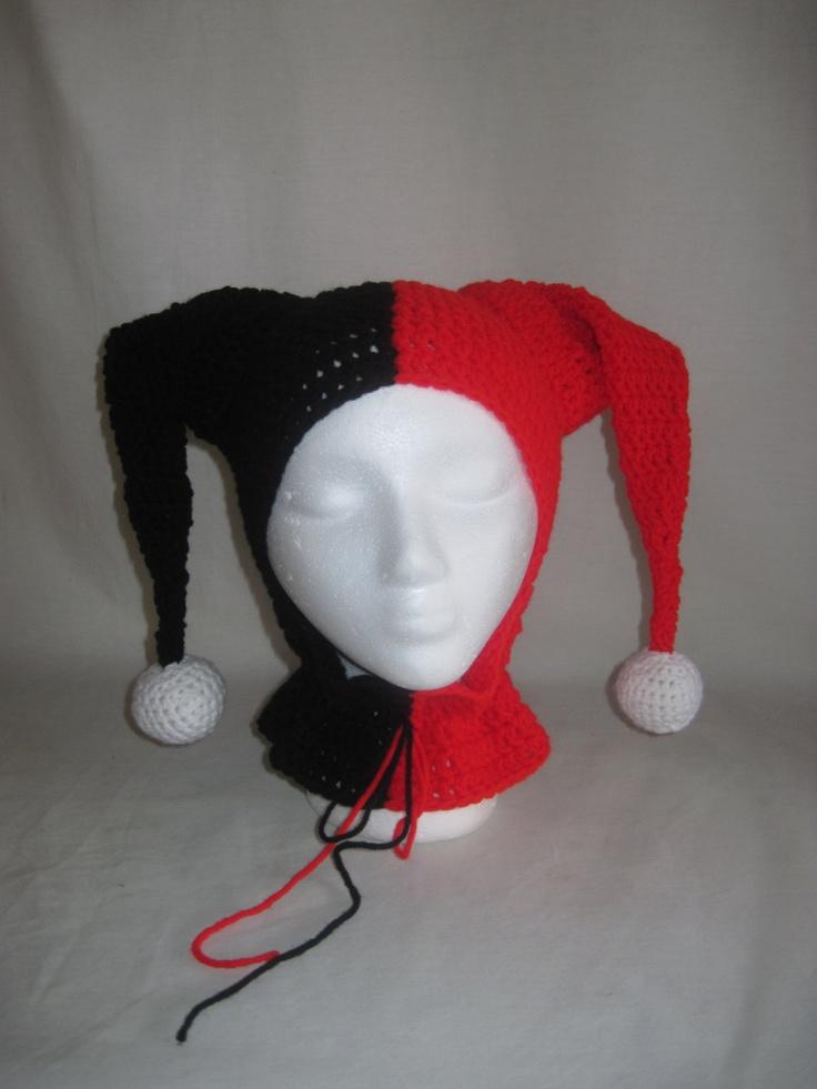 Harley Quinn Hat Crochet Harley Quinn Jester Hat Hats
