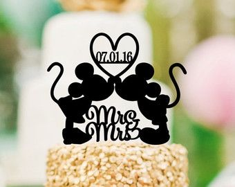 Mickey Mouse Cake Topper Disney Wedding Cake by Customorderhouse