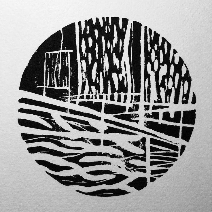 Handmade print _____ #linocut #printmaking #contemporaryart #instaart #abstract #lucabraidottipaint