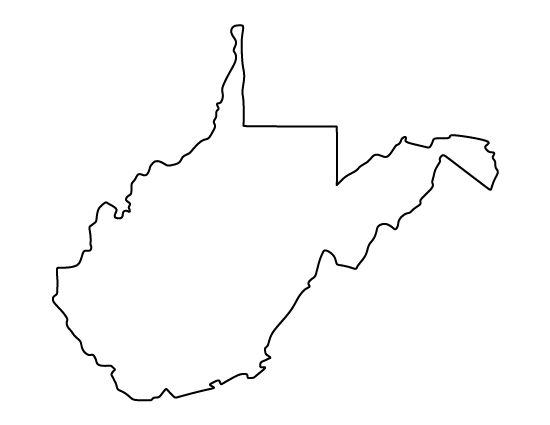 West Virginia pattern. Use the printable outline for crafts, creating stencils, scrapbooking, and more. Free PDF template to download and print at http://patternuniverse.com/download/west-virginia-pattern/