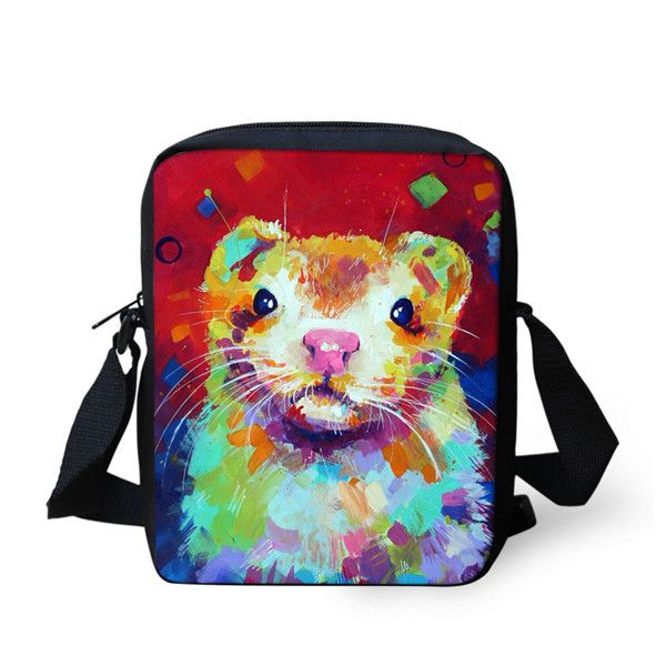 Artistic Animal Print Messenger Bags - Many Animals to Choose From!