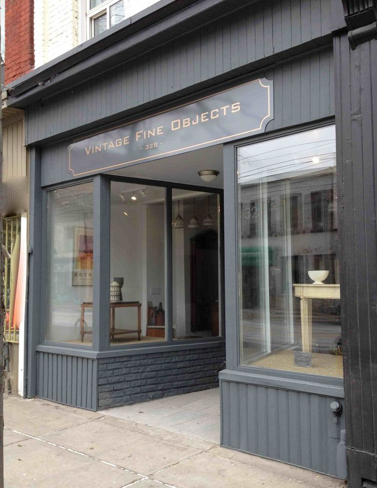 Facade of vintage fine objects toronto paint colour is - Farrow and ball exterior paint ideas ...