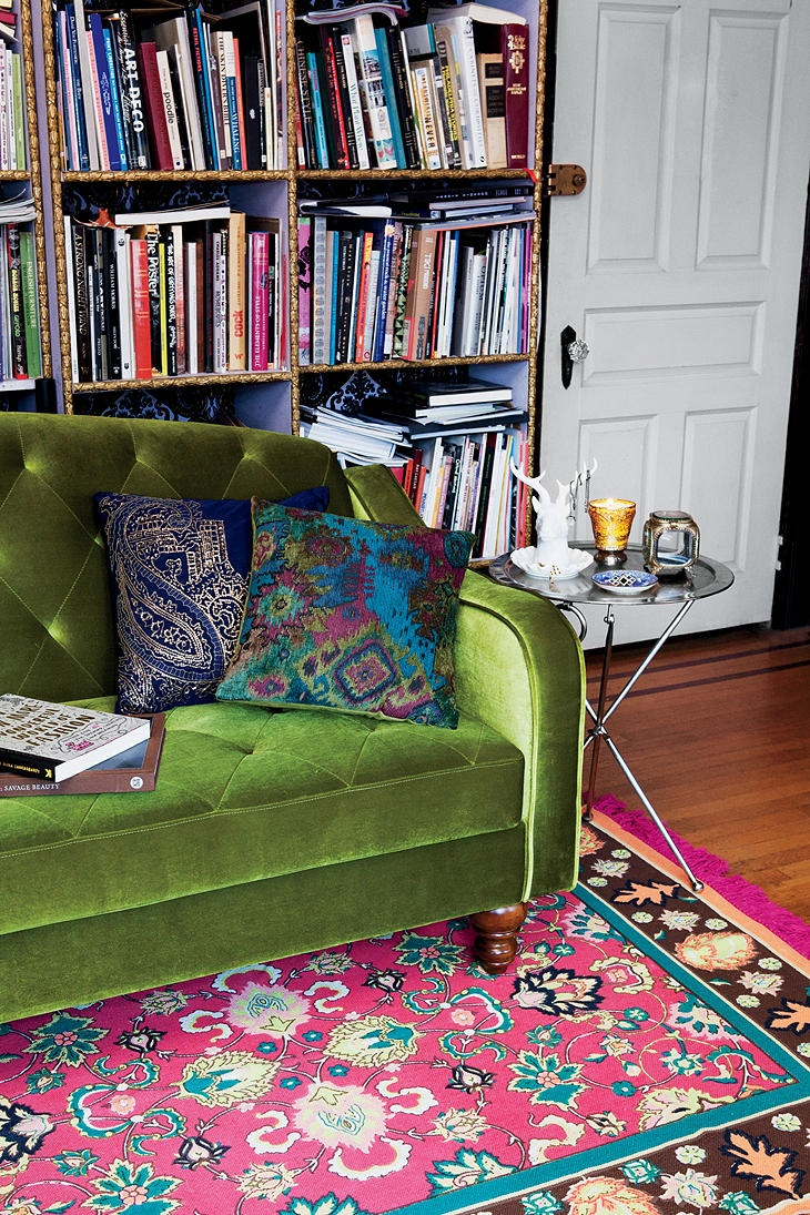 Ava Tufted Sleeper Sofa $699.00 I love the Plum colored one though the moss is a great option too