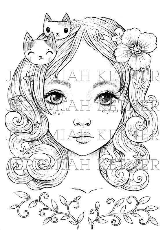 My Everything Coloring Page Coloring Pages Digital Stamps
