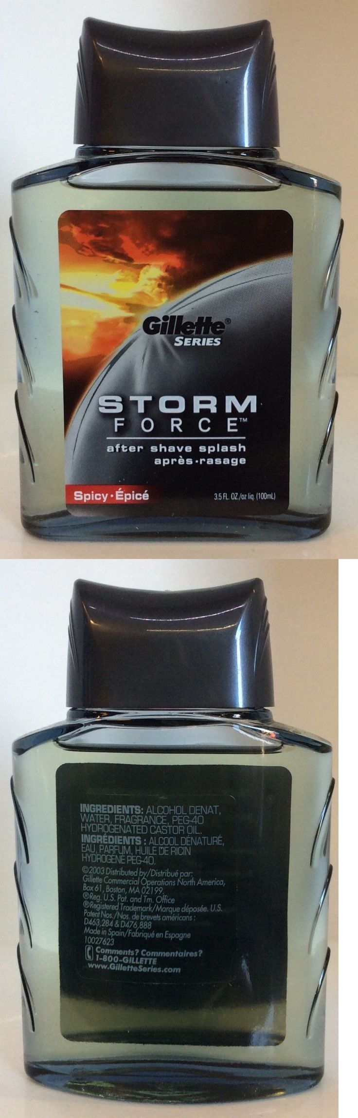 Aftershave and Pre-Shave: Gillette Series Storm Force After Shave Splash 3.5 Fl Oz, Spicy Epice -> BUY IT NOW ONLY: $50 on eBay!