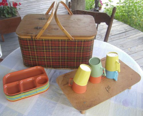 Red Plastic Picnic Basket : Best images about gotta love a picnic on