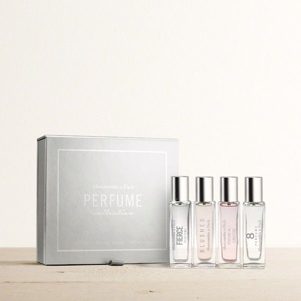Abercrombie & Fitch Perfume Collection Gift Set ($54) ❤ liked on Polyvore featuring beauty products, gift sets & kits and abercrombie fitch perfume