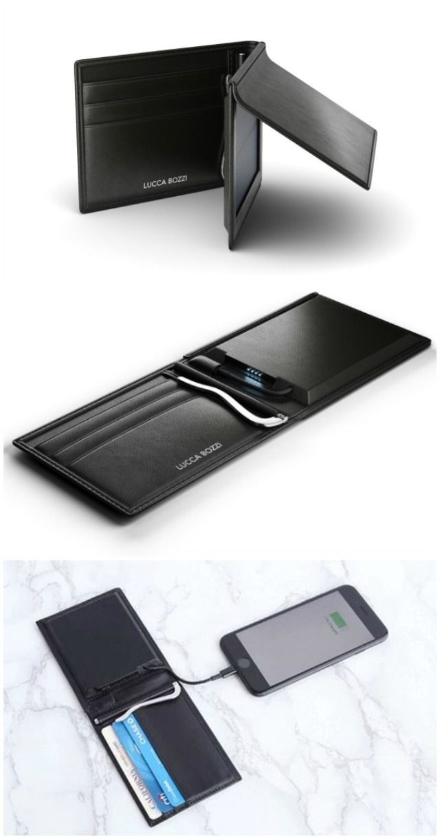 The Lucca Bozzi Solar Wallet is the only minimalist wallet with a built-in power…