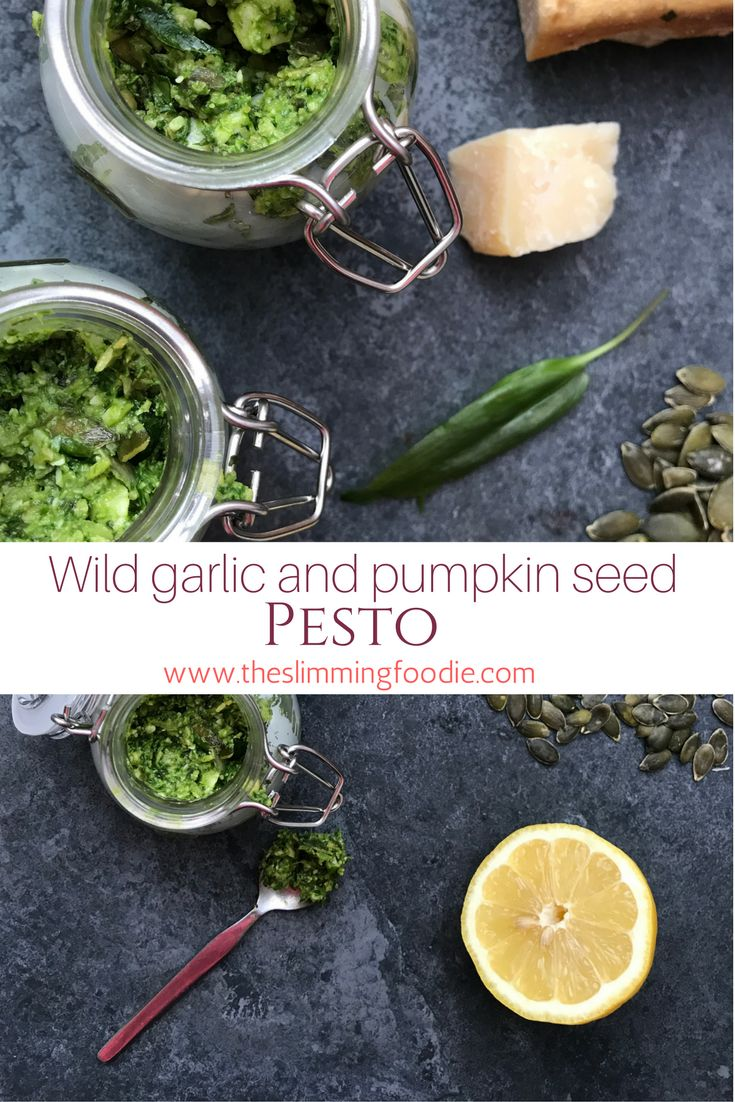 A delicious and healthy pesto made with foraged wild garlic
