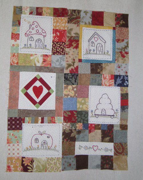Houses Quilt von Heidi