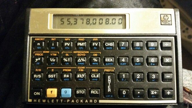 HP 12C compact RPN financial calculator