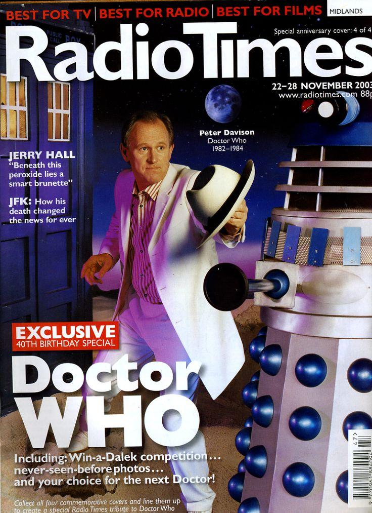 doctor who peter davison | Radio Times 22-28 November 2003