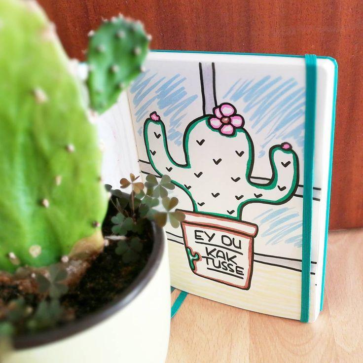 Lettering Beleidigung Kompliment Kaktus auf der Fensterbank