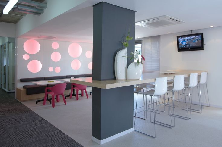 T-Systems Office Canteen. Interior design by Source Interior Brand Architecture.
