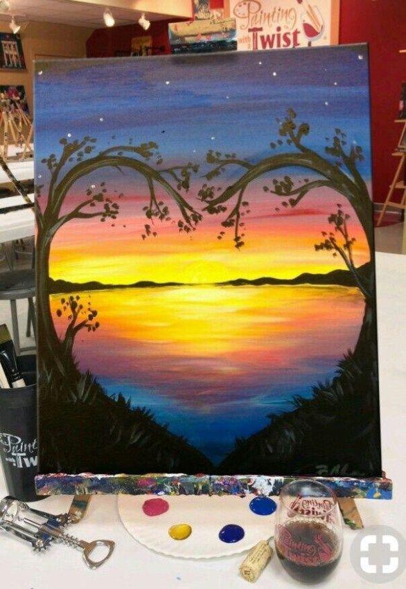 Acrylic Beginners Brighter Craft Ideas Painting Leinwand