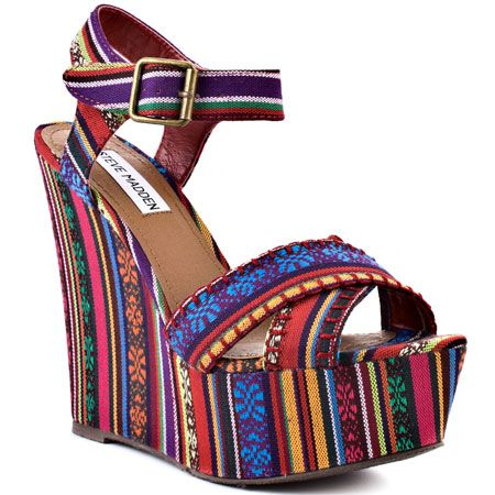 Had to get em', they match everything!!: Aztec Wedges, Red Multi, Woman Shoes, Women Shoes, Steve Madden, Fashion Inspiration, Bright Style, Madden Winonna, Stevemadden