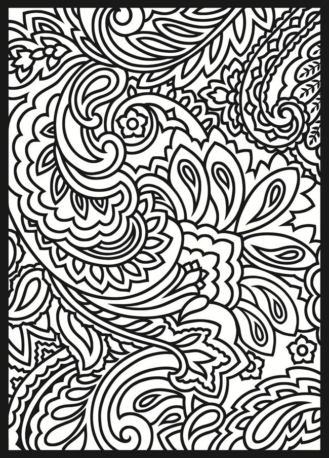 Paisley Stain Glass Colouring Pages