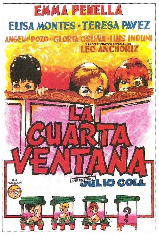 La Cuarta Ventana 1963 De Julio Coll Tt0055878 Carteles De Cine Cine Musica Libros Cine Clasico