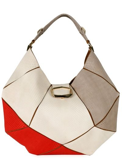 ROGER VIVIER - FACETED PYTHON HOBO - LUISAVIAROMA - LUXURY SHOPPING WORLDWIDE SHIPPING - FLORENCE
