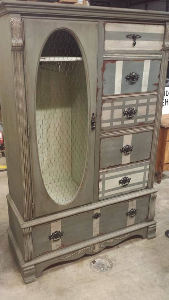 Painted+Furniture+Shabby+Chic+Wardrobe+&+Matching+by+SOBYJADE,+$960.00
