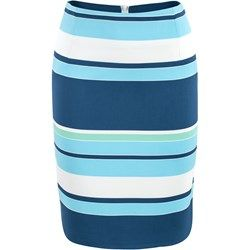 Spódnica wąska paski niebieskie
