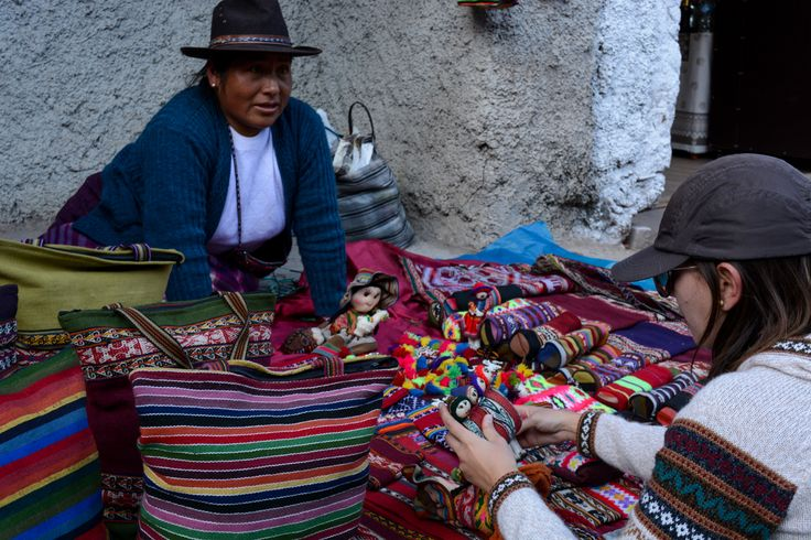 Artesanato peruano.