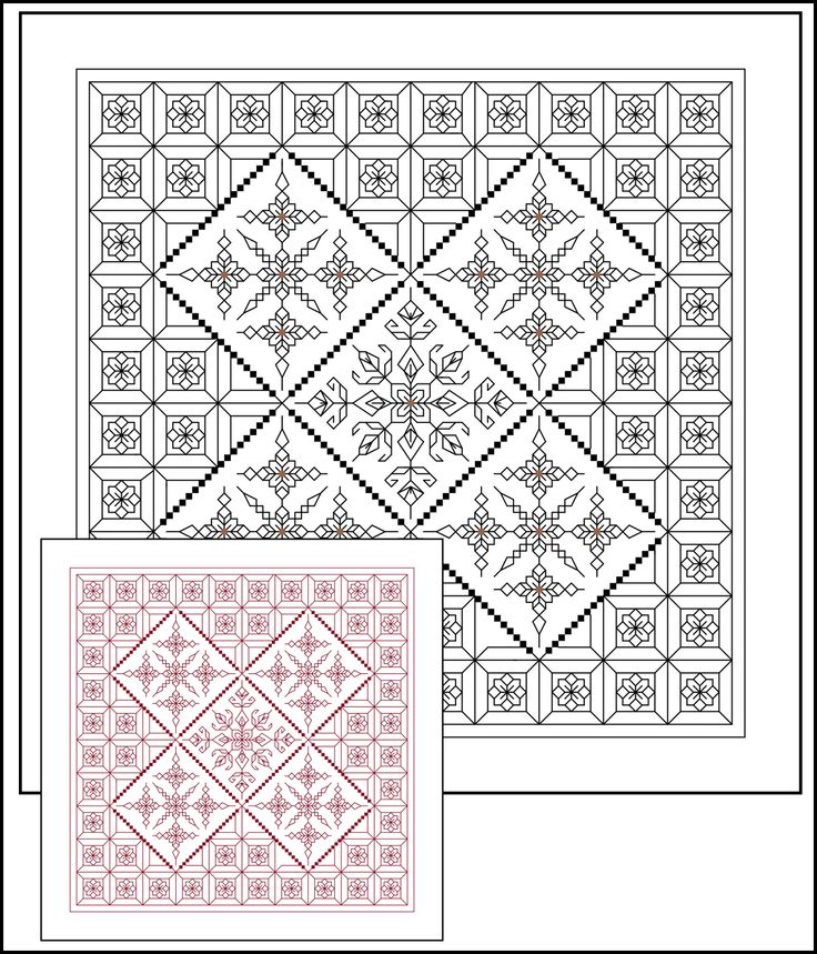 CH0042 Serendipity PDF from Blackwork Journey.  Black or red change the colours! www.blackworkjourney.co.uk