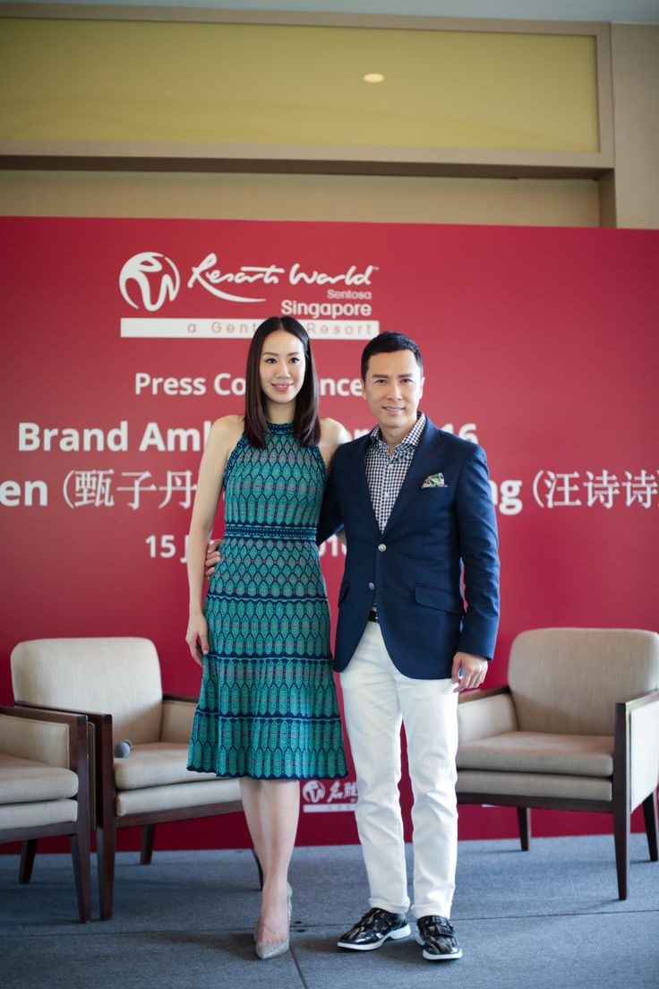 Earlier this year, Donnie Yen and his wife, Cissy Wang, were appointed our new Brand Ambassadors for Resorts World Sentosa. This means we'll be seeing more of him around the Resort this year!