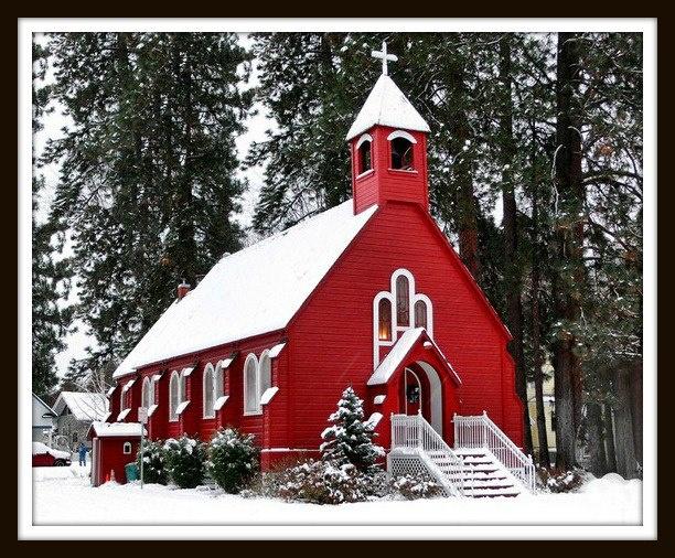 My favorite church photo, in Coeur d'Alene Idaho