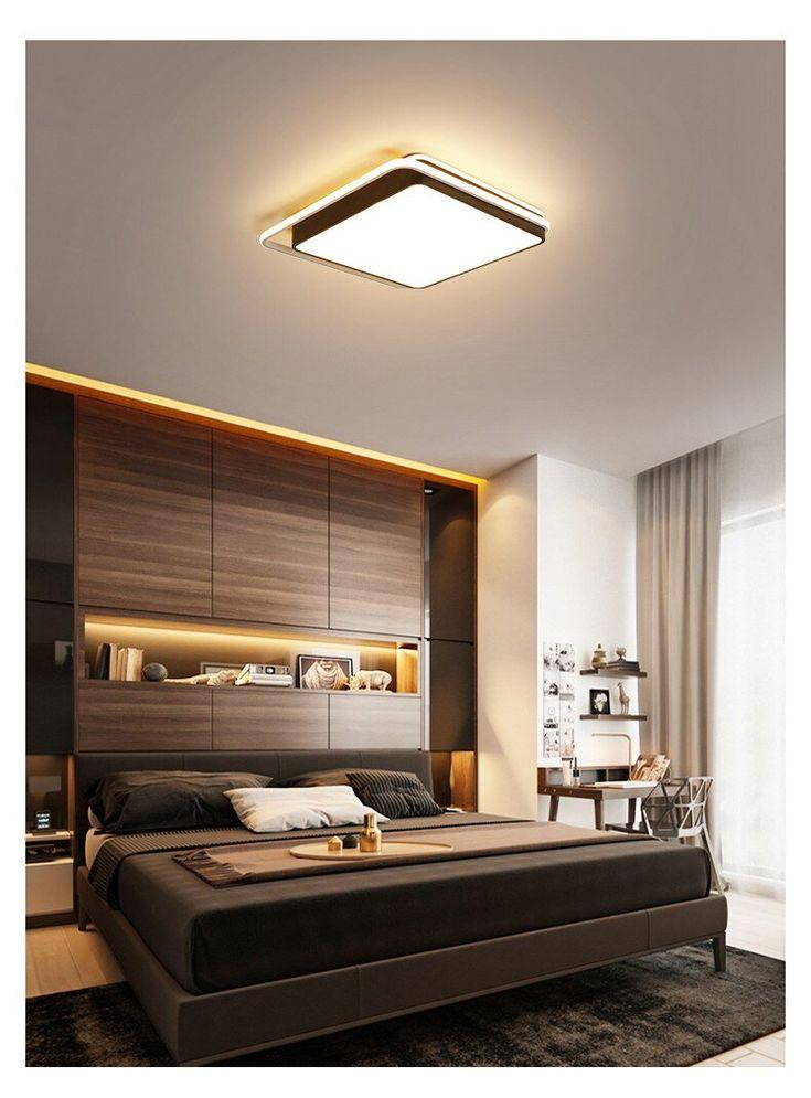 Widza LED Ceiling Light in 2021   Modern bedroom design ...
