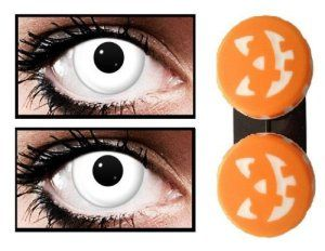 lentilles de contact Halloween Blanc 12 mois (White Out) (sans correction)
