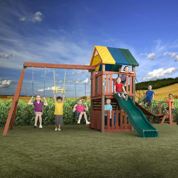67 best swingset ideas images on pinterest for kids for Swing set bridge